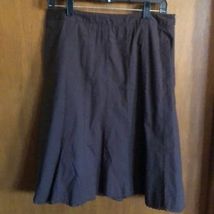 Christopher and banks brown skirt size 12